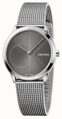 Calvin Klein 女人最小的灰色表盘 K3M22123