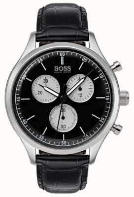Hugo Boss 男士伴侣计时腕表黑色 1513543