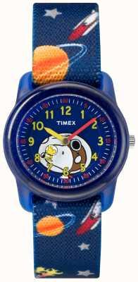 Timex 青春模拟蓝色表带史努比外层空间 TW2R41800JE