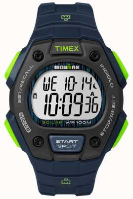 Timex 铁人三项经典30 fs黑和石灰 TW5M11600D7PF