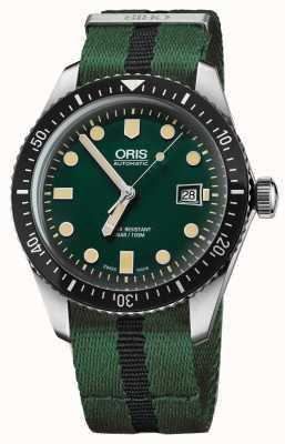 Oris 男士潜水员六十五绿色北约表带 01 733 7720 4057-07 5 21 25FC