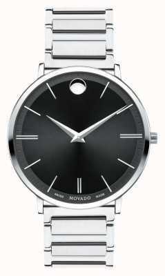 Movado 男士超薄不锈钢手表 0607167