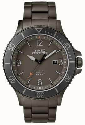 Timex 男士探险护林员枪金属手镯灰色表盘 TW4B10800