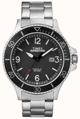 Timex 男士探险护林员金属手镯黑色表盘 TW4B10900
