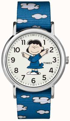 Timex 蓝色表带露西手表 TW2R413006B