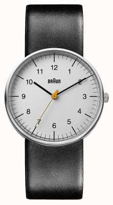 Braun 中性黑色皮革手表 BN0021BKG