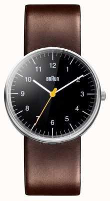 Braun 男士棕色真皮表带手表 BN0021BKBRG