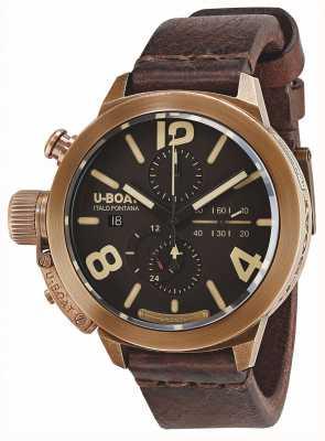 U-Boat Classico 50青铜自动棕色皮革表带 8064