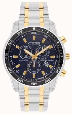 Citizen Eco-drive双色黑色表盘男士手链 BL5514-53L