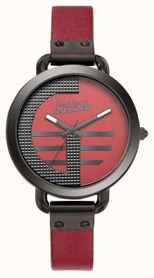 Jean Paul Gaultier 女装指数g红色真皮表带红色表盘 JP8504321
