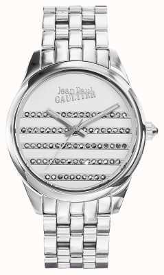 Jean Paul Gaultier 海军不锈钢表链白色表盘 JP8502404