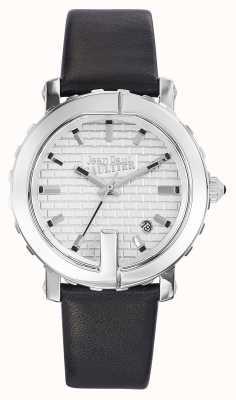 Jean Paul Gaultier (无框)女士点G黑色皮革表带银色表盘 JP8500515