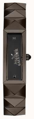 Jean Paul Gaultier 女式迷你朋克枪金属手链黑色表盘 JP8504003