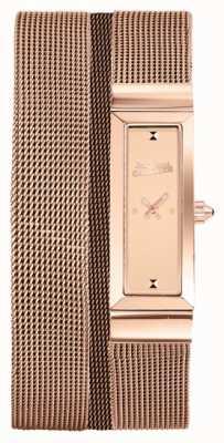 Jean Paul Gaultier 女装cote de maille玫瑰金pvd网眼手链玫瑰表盘 JP8503906