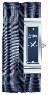 Jean Paul Gaultier 女士手提包蓝色pvd网眼手链蓝色表盘 JP8503904