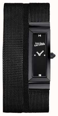 Jean Paul Gaultier 女士手提包黑色pvd网眼手链黑色表盘 JP8503905