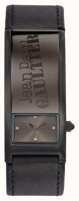 Jean Paul Gaultier 相同的灰色皮革表带灰色表盘 JP8503703