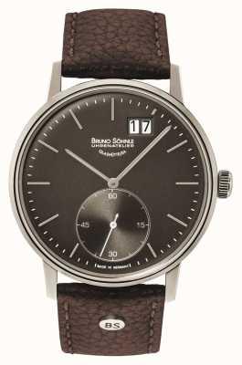 Bruno Sohnle 斯图加特ii 42毫米棕色皮革手表 17-13179-841