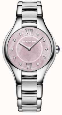 Raymond Weil 女人noemia钻石石英珍珠手表的母亲 5132-ST-00986