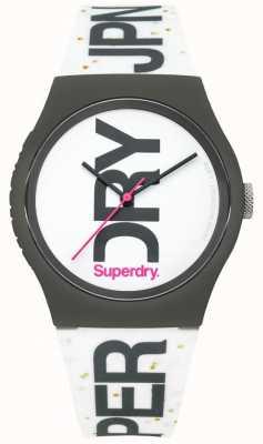 Superdry 中性白色硅胶手表 SYL189WB