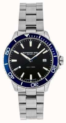 Raymond Weil 探戈蓝色表圈不锈钢腕表 8260-ST3-20001