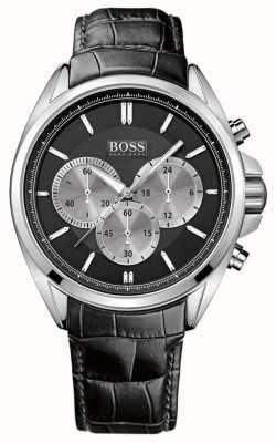 Hugo Boss 男士黑色皮革计时腕表 1512879