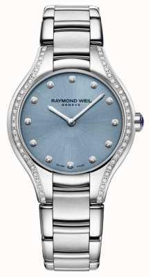 Raymond Weil 女装noemia钻石不锈钢手链蓝色表盘 5132-STS-50081