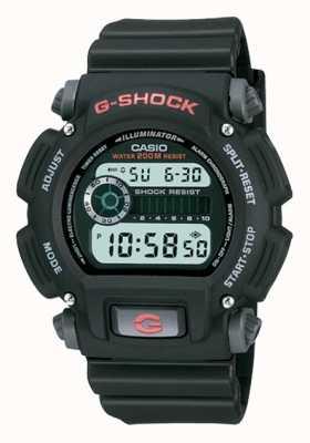 Casio G-shock数字黑色树脂计时码表 DW-9052-1VER