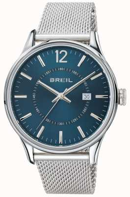 Breil Contempo不锈钢蓝色表盘网眼手链 TW1560