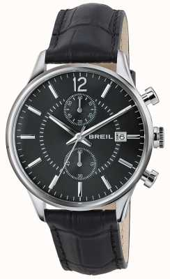 Breil Contempo不锈钢计时码表黑色表盘黑色表带 TW1572