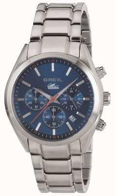Breil 曼塔市不锈钢计时蓝色表盘手镯 TW1605