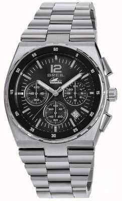 Breil 曼塔运动不锈钢计时黑色表盘手镯 TW1639