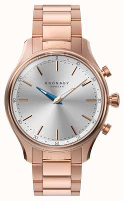 Kronaby 38毫米sekel蓝牙玫瑰金金属手镯smartwatch A1000-2747