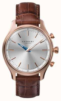 Kronaby 38毫米sekel蓝牙玫瑰金皮表带smartwatch A1000-2748