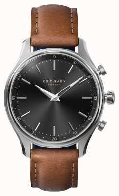 Kronaby 38毫米sekel蓝牙钢质皮表带smartwatch A1000-2749