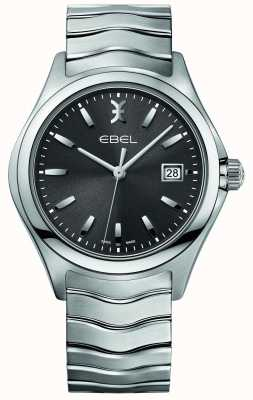 EBEL 男士波浪不锈钢手链灰色表盘 1216239