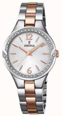 Festina 女士双色不锈钢表链银色表盘 F20247/1