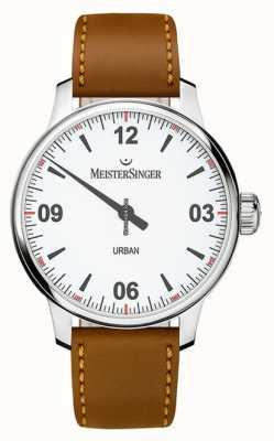 MeisterSinger 城市白色表盘乳白色银色 UR901