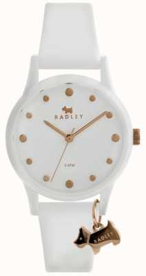 Radley 女士白色33毫米表壳白色表盘白色硅胶表带 RY2638