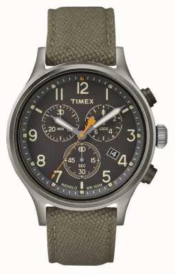 Timex Allied Chrono绿色尼龙表带/黑色表盘 TW2R47200