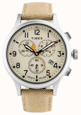 Timex Allied chrono卡其色尼龙表带/自然表盘 TW2R47300