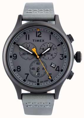 Timex Allied chrono灰色皮革表带/灰色表盘 TW2R47400