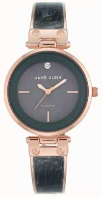 Anne Klein 女士阿曼达玫瑰金表壳灰色表盘 AK/N2512GYRG