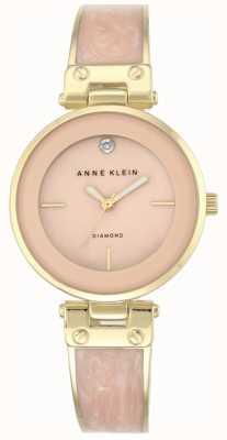 Anne Klein 女士阿曼达黄金表壳粉红色表盘 AK/N2512LPGB