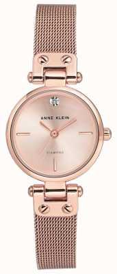Anne Klein 女士伊莎贝尔玫瑰金色调网眼手链和表盘 AK/N3002RGRG