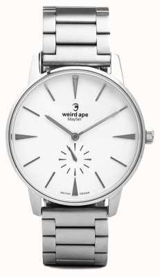 Weird Ape 梅费尔白色表盘银链手镯 WA02-005640