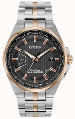 Citizen Men's world perpetual at 不锈钢和玫瑰金 ip CB0166-54H