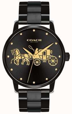 Coach 女式大黑色表壳和手镯 14502925