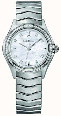 EBEL Wave 66钻石镶石英30mm珍珠女士腕表 1216194