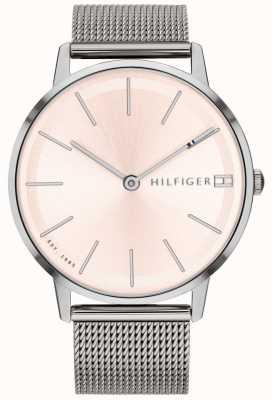Tommy Hilfiger 女式pippa手表银色调网眼表带 1781935